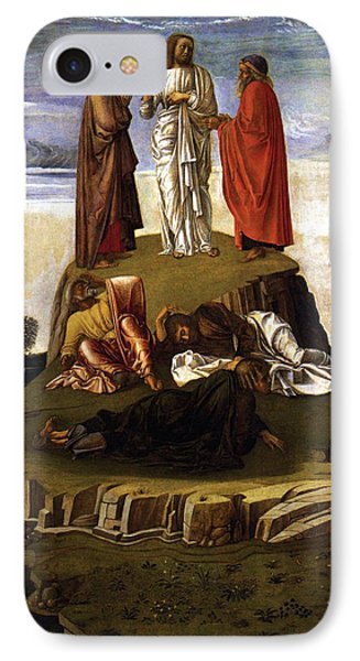 IPhone Case featuring the painting Transfiguration Of Christ On Mount Tabor 1455 Giovanni Bellini by Karon Melillo DeVega