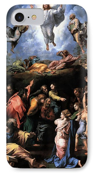 Transfiguration Reproduction Art Work IPhone Case by Raphael