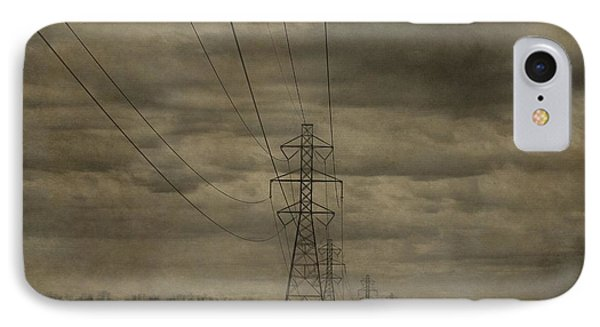 Transmission Towers IPhone Case by Dan Sproul