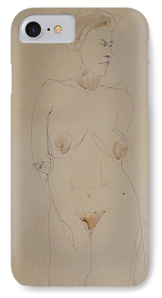 Transparent Nude Phone Case by Esther Newman-Cohen