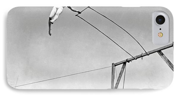 Trapeze Artist On The Swing Phone Case by Underwood Archives