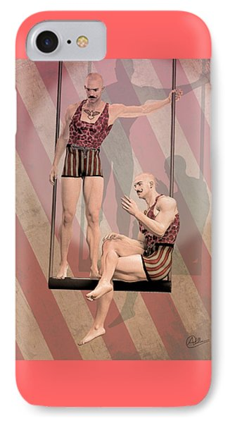 Trapezist Brothers IPhone Case by Quim Abella