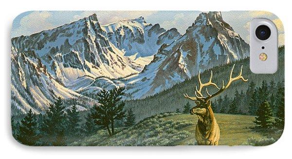 Bull iPhone 7 Case - Trapper Peak - Bull Elk by Paul Krapf