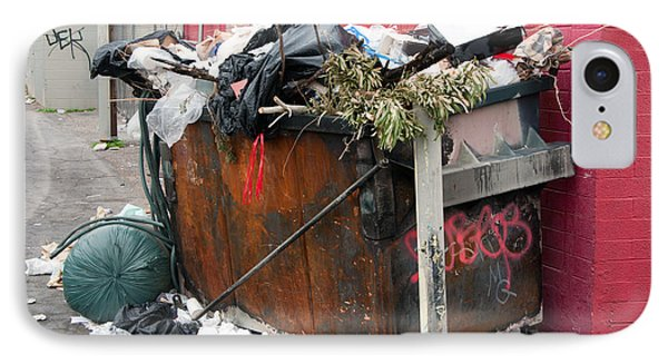 IPhone Case featuring the photograph Trash Dumpster In Slums by Gunter Nezhoda