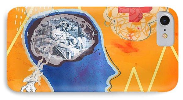 Trauma, Conceptual Artwork IPhone Case by Glyn Goodwin