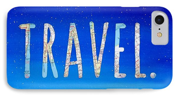 Travel Word Art IPhone Case