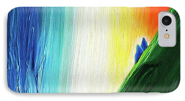 IPhone Case featuring the painting Travelers Rainbow Waterfall Detail by First Star Art