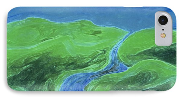 IPhone Case featuring the painting Travelers Upstream By Jrr by First Star Art