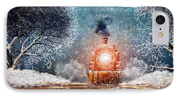 Traveling On Winters Night IPhone Case