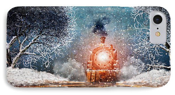 Traveling On Winters Night IPhone Case by Bob Orsillo