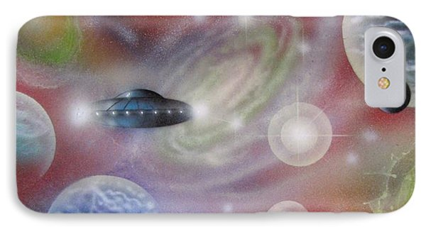 Traversing The Multiverse-2 IPhone Case by Sam Del Russi