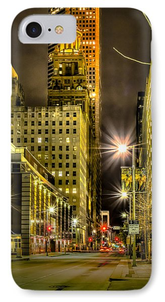 Travis And Lamar Street At Night IPhone Case by David Morefield