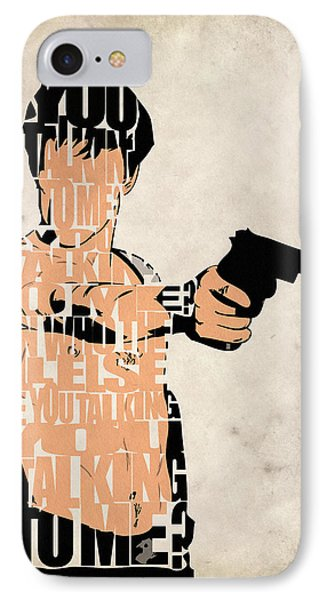 Travis Bickle - Robert De Niro IPhone Case by Ayse Deniz