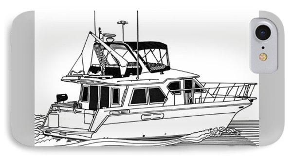 Trawler Yacht Phone Case by Jack Pumphrey