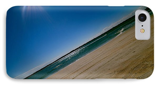 IPhone Case featuring the photograph Treads In The Sand by DigiArt Diaries by Vicky B Fuller