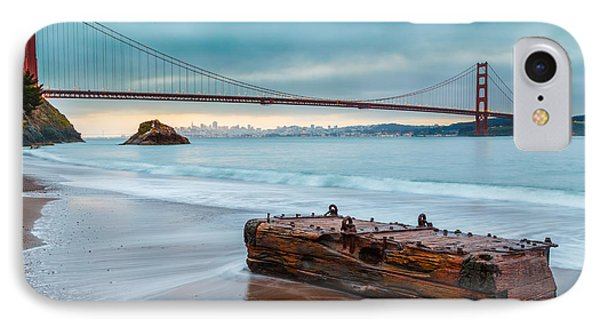 Treasure And The Golden Gate Bridge IPhone Case by Sarit Sotangkur