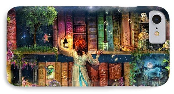 Fairytale Treasure Hunt Book Shelf Variant 2 IPhone Case by Aimee Stewart
