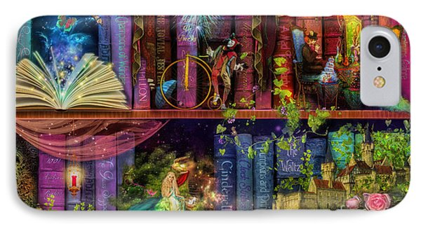 Fairytake Treasure Hunt Book Shelf Variant 4 IPhone Case by Aimee Stewart