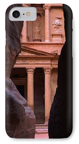 Treasury Through The Rocks, Petra, Wadi IPhone Case by Panoramic Images