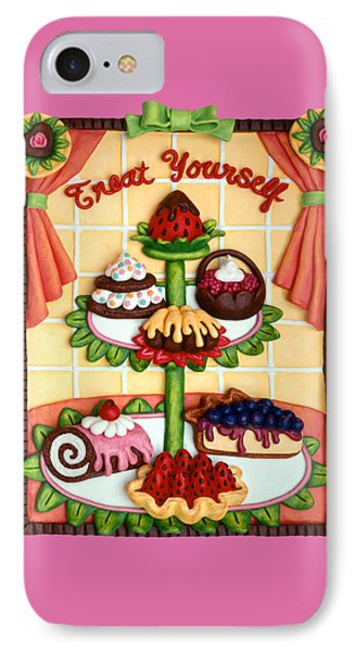 Treat Yourself Phone Case by Amy Vangsgard