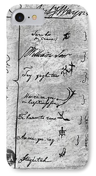 Treaty Of Greenville, 1795 IPhone Case by Granger