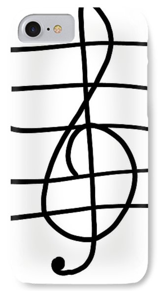 Treble Clef IPhone Case by Jada Johnson