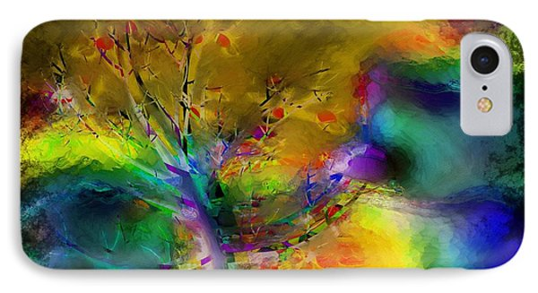 Tree Abstract - Bold Is Beautiful Phone Case by Liane Wright