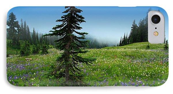 Tree Amongst Wildflowers IPhone Case