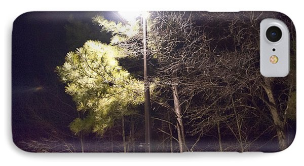 Tree And Streetlight  IPhone Case by J Riley Johnson