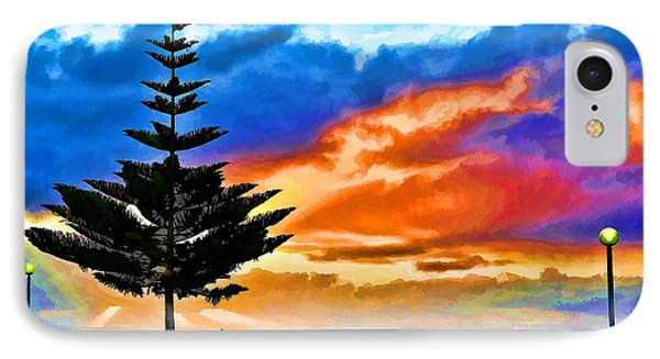 Tree And Sunset IPhone Case