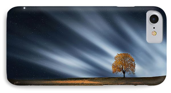 Tree At Night With Stars IPhone Case by Bess Hamiti