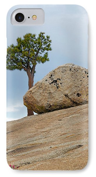 Tree At Olmsted Point Yosemite National Park California Phone Case by Christine Till