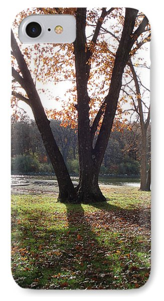IPhone Case featuring the photograph Tree At The Lake by J L Zarek