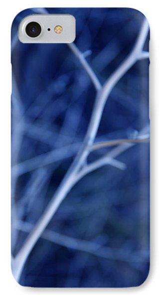 Tree Branches Abstract Blue Phone Case by Jennie Marie Schell