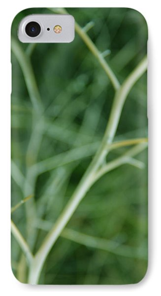 Tree Branches Abstract Green Phone Case by Jennie Marie Schell