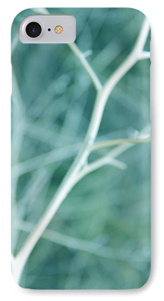 Tree Branches Abstract Turquoise Phone Case by Jennie Marie Schell