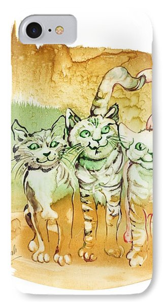 IPhone Case featuring the painting Tree Brothers  by Anna Ewa Miarczynska