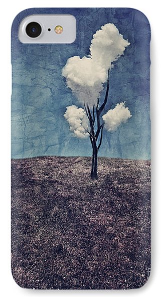 IPhone Case featuring the digital art Tree Clouds 01d2 by Aimelle