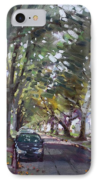 Rolling Stone Magazine iPhone 7 Case - Tree Covered 81st Street Lasalle by Ylli Haruni