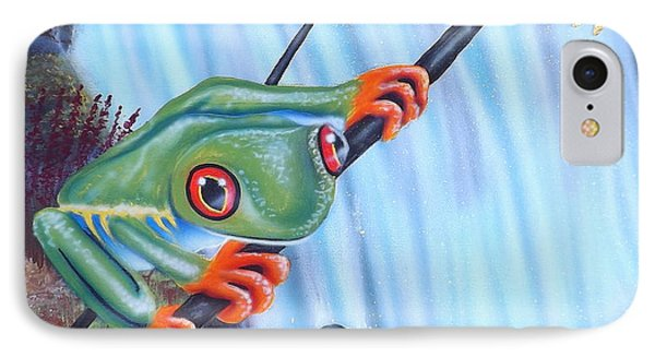 Tree Frog IPhone Case by Darren Robinson