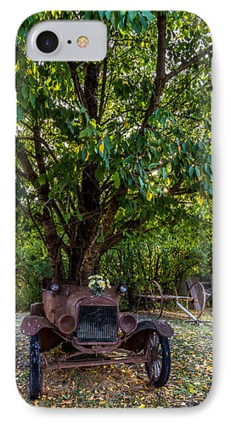 Tree Growing Out Of Old Car - 1 IPhone Case by Rob Green