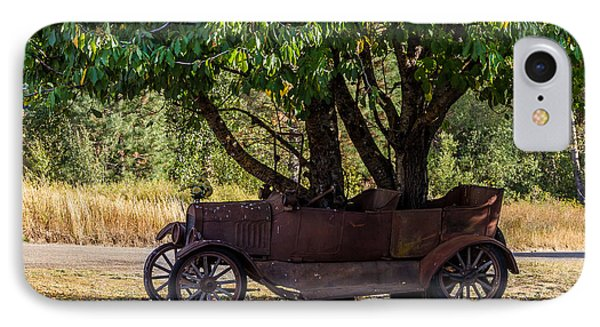 Tree Growing Out Of Old Car - 2  IPhone Case by Rob Green