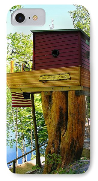 Tree House Boat IPhone Case by Sherman Perry