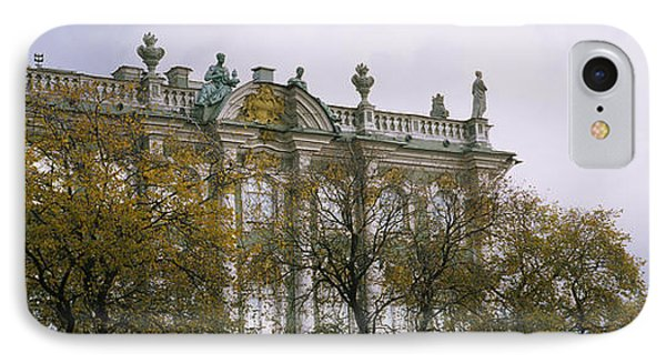 Tree In Front Of A Palace, Winter IPhone Case by Panoramic Images
