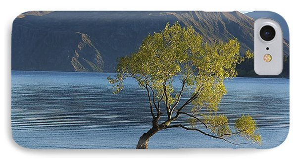 Tree In Lake Wanaka IPhone Case by Stuart Litoff