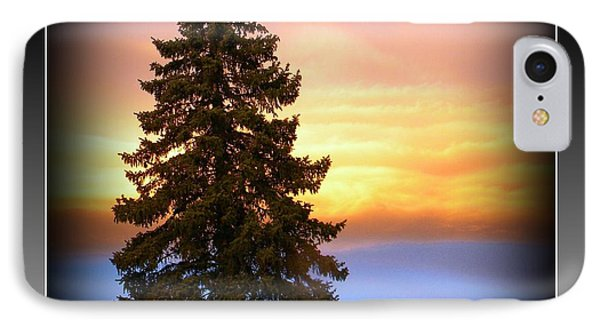 Tree In Sunrise IPhone Case by Michelle Frizzell-Thompson