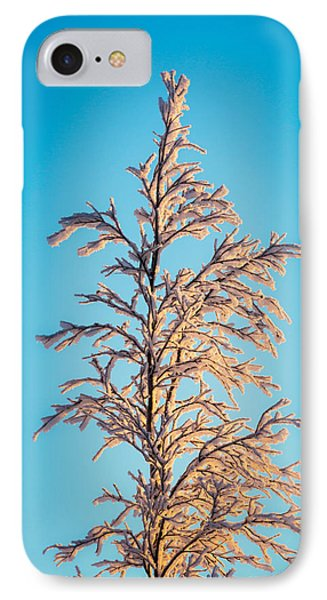 Tree In The Frozen Landscape, Cold IPhone Case by Panoramic Images