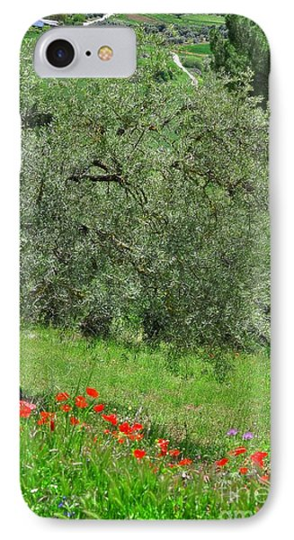 Tree In The Meadow Near Ronda  Phone Case by Mary Machare