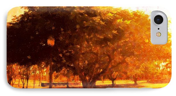 Tree In The Park Phone Case by Florene Welebny
