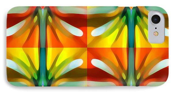 Tree Light Square Pattern Phone Case by Amy Vangsgard